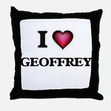 I love Geoffrey Throw Pillow