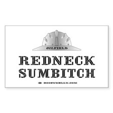 Redneck Sumbitch Rectangle Decal