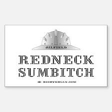 Redneck Sumbitch Rectangle Decal