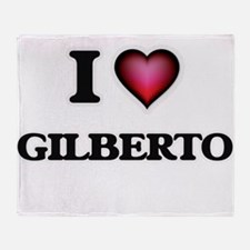 I love Gilberto Throw Blanket