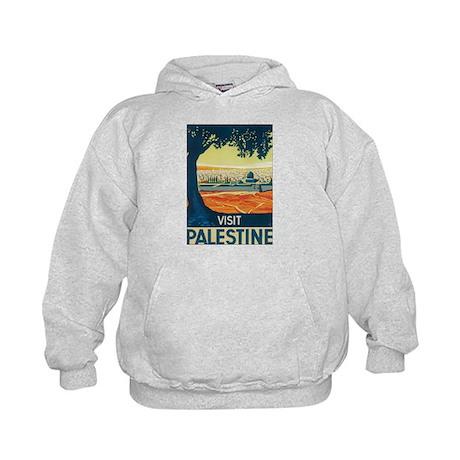 Vintage Palestine Travel Post Kids Hoodie