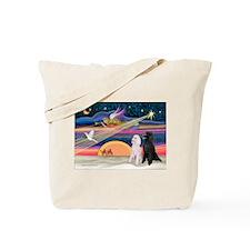 XmasStar/2 Poodles-STBW Tote Bag