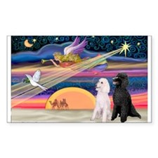 XmasStar/2 Poodles-STBW Rectangle Decal