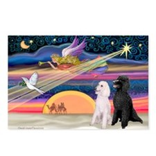XmasStar/2 Poodles-STBW Postcards (Package of 8)
