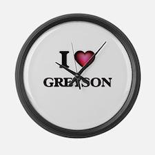 I love Greyson Large Wall Clock