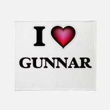 I love Gunnar Throw Blanket