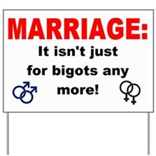 Cute Gay marriage Yard Sign