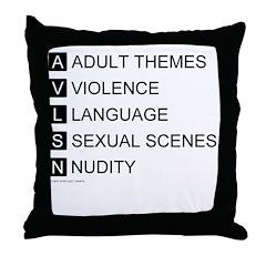 Bad Ratings Throw Pillow