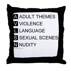 Bad Ratings Throw Pillow
