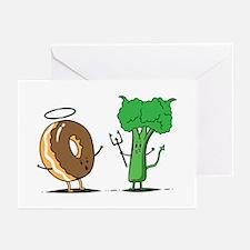 brocoli Greeting Cards