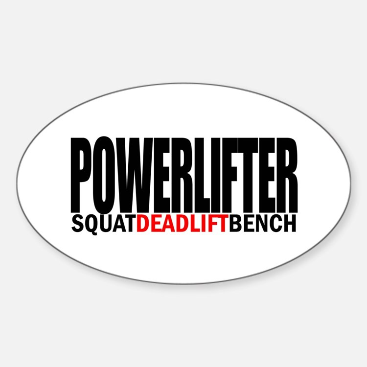 POWERLIFTER Oval Decal