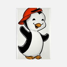 Red Hat Penguin Rectangle Magnet
