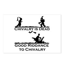 Good Riddance to Chivalry Postcards (Package of 8)