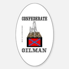 Confederate Oval Decal