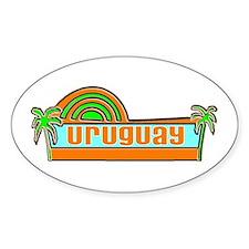 Uruguay Oval Decal