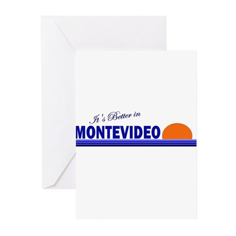 Its Better in Montevideo, Uru Greeting Cards (Pk o