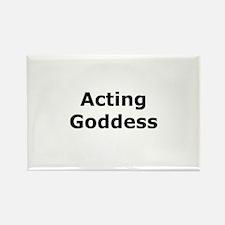 Acting Goddess Rectangle Magnet (10 pack)