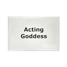 Acting Goddess Rectangle Magnet