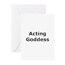 Acting Goddess Greeting Cards (Pk of 10)