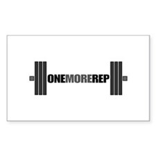 ONE MORE REP Rectangle Decal