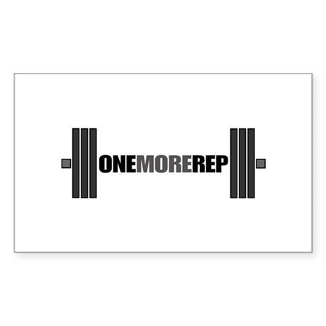 ONE MORE REP Rectangle Sticker