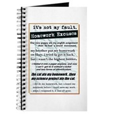 Homework Excuses Journal