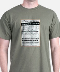 Homework Excuses T-Shirt