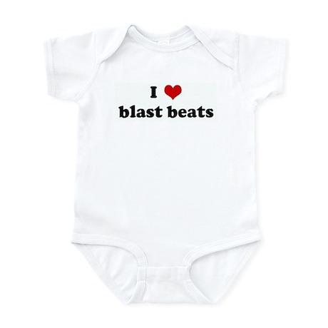 I Love blast beats Infant Bodysuit