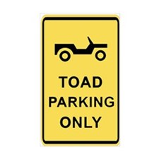 Toad Parking Only Rectangle Decal