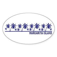 Margarita Island Oval Decal