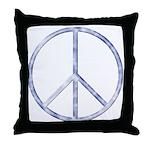 Peace Sign Throw Pillow