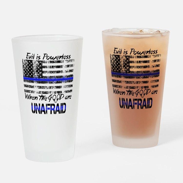 Cute Thin blue line Drinking Glass