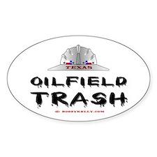Texas Oilfield Trash Oval Decal