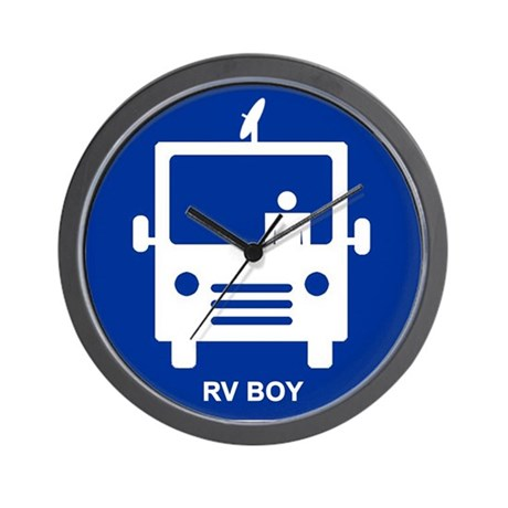 Rv Boy Wall Clock By Mobilelifestyle