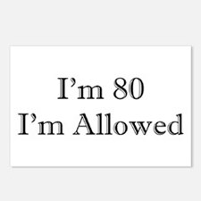 80 I'm Allowed 3 Postcards (Package of 8)