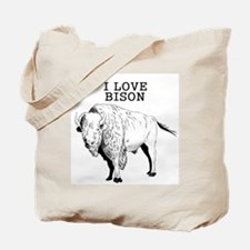 I Love Bison Tote Bag