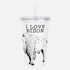 I Love Bison Acrylic Double-wall Tumbler
