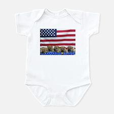 Patriotic SharPei Infant Bodysuit