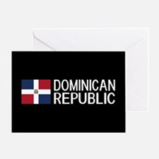 Dominican Republic: Dominican Flag & Greeting Card