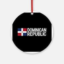 Dominican Republic: Dominican Flag Round Ornament