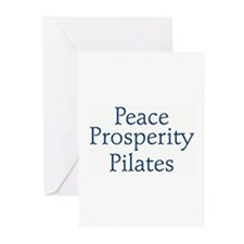 """Peace, Prosperity, Pilates"" Greeting Cards"