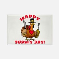 Happy Turkey Day Rectangle Magnet (100 pack)