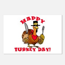 Happy Turkey Day Postcards (Package of 8)