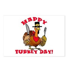 Happy Turkey Day Thanksgiving Postcards (Package o