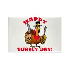 Happy Turkey Day Thanksgiving Rectangle Magnet