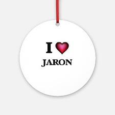 I love Jaron Round Ornament