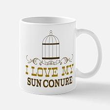 sun conure lover bird Mug