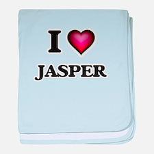 I love Jasper baby blanket