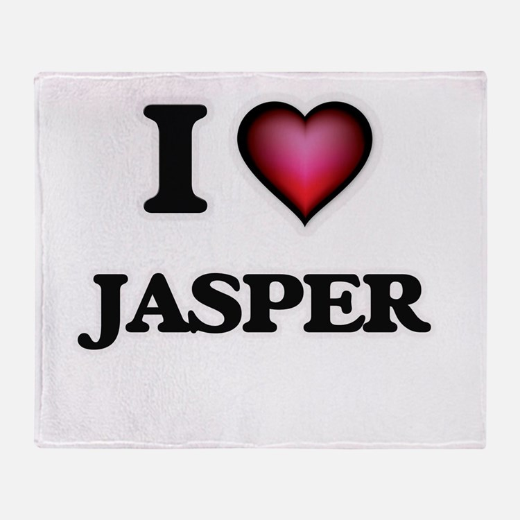 I love Jasper Throw Blanket
