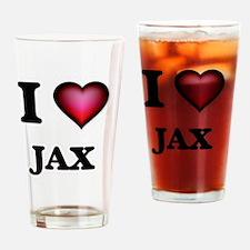 I love Jax Drinking Glass